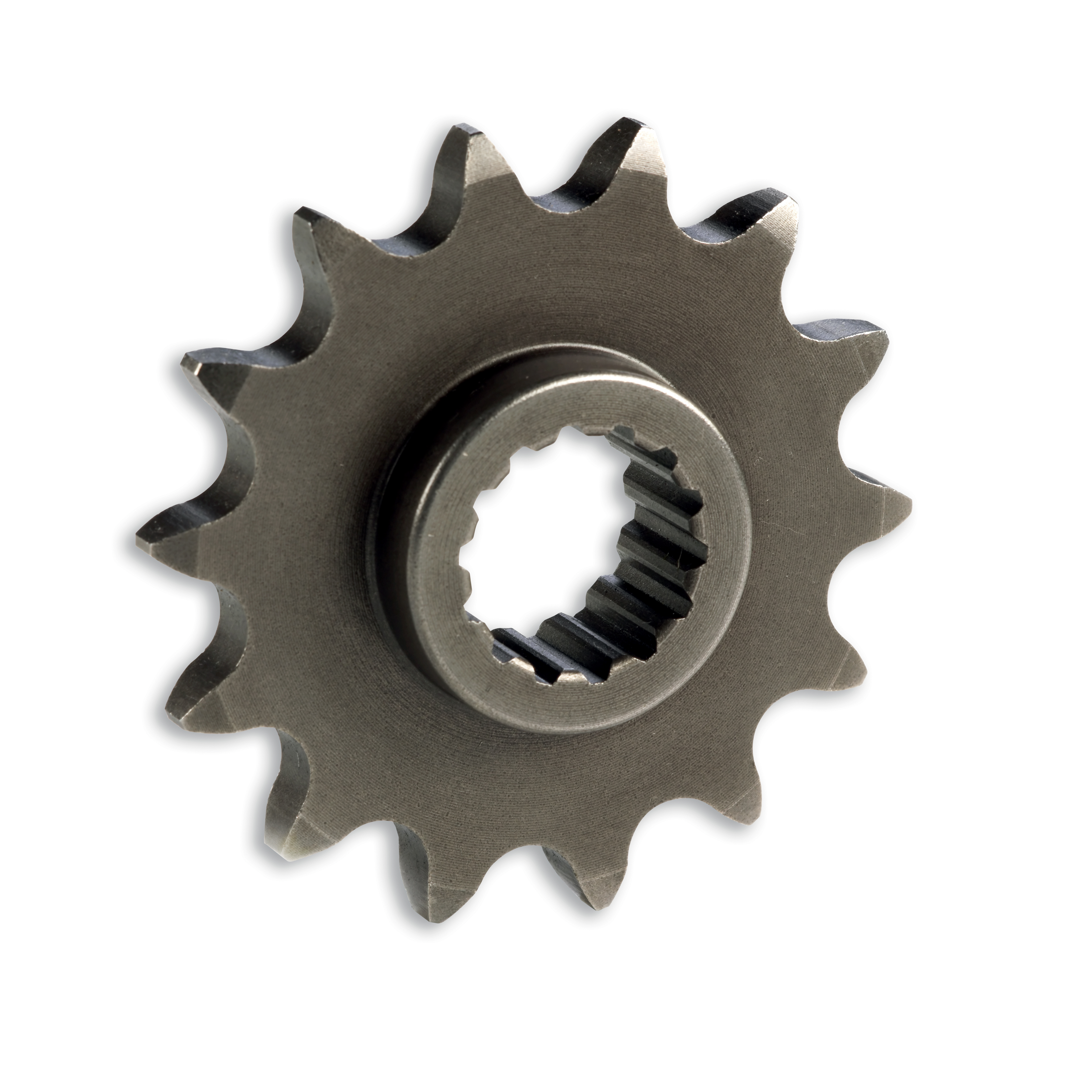 Steel front sprocket.