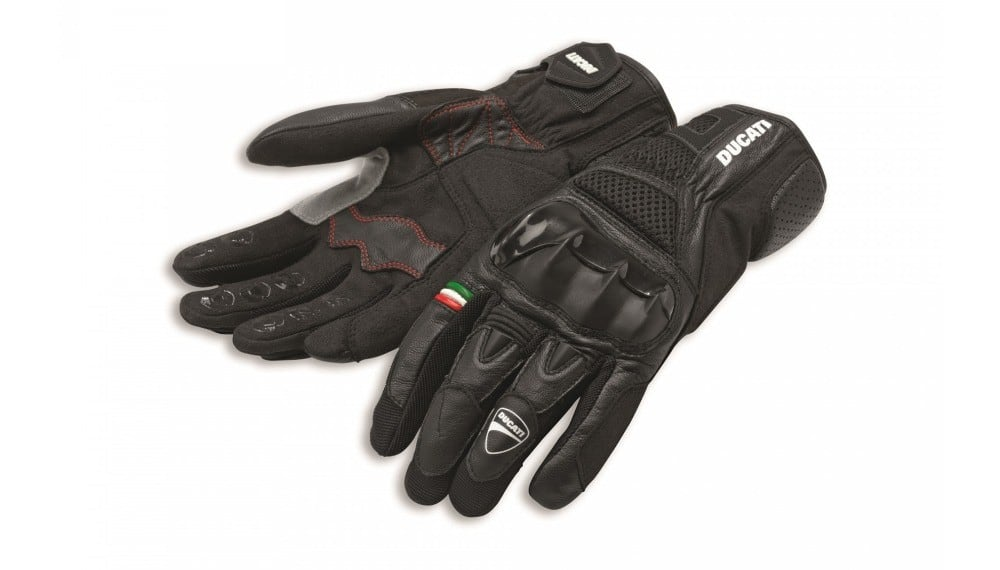 City C2 Fabric-Leather Gloves