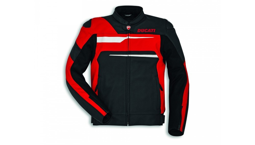 Speed Evo C1 Leather Jacket Black-Red