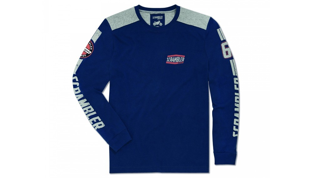 Flat Track Blue Long-Sleeved T-Shirt