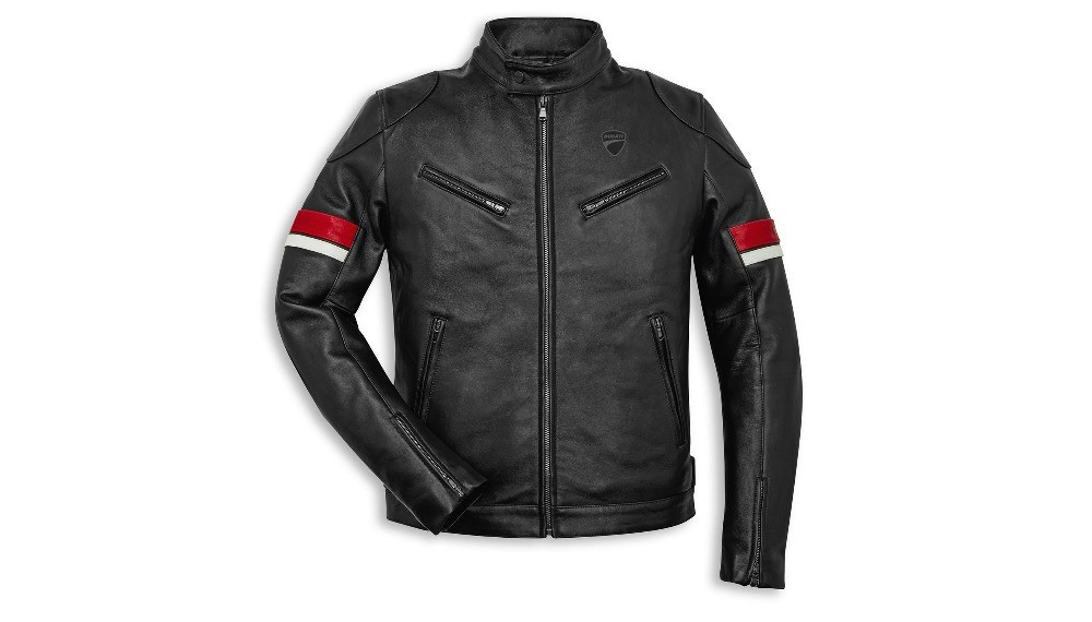 Ducati Urban Stripes Leather Jacket