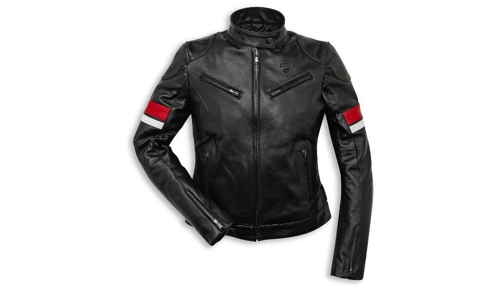 Ducati Urban Stripes Woman Leather Jacket
