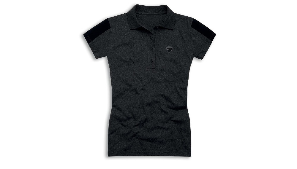 Ducati Reflex Attitude Woman Short-Sleeved Polo Shirt